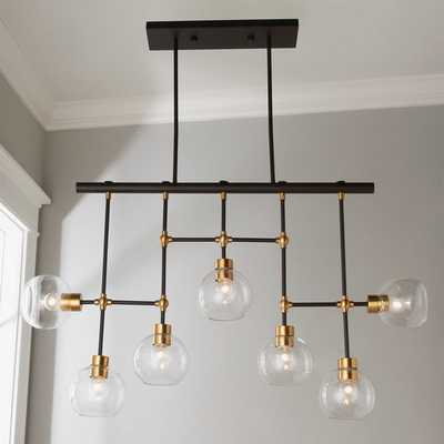 GLASS GLOBES LINEAR CHANDELIER - Shades of Light