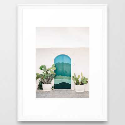 The Ostuni Door | Italy fine art travel photography | Colorful cityscape Framed Art Print - Society6
