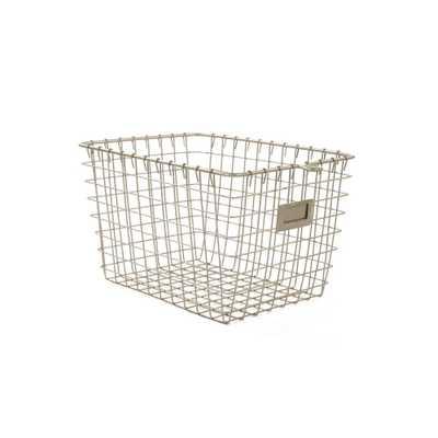 Spectrum 8.875 in. W x 12.875 in. D x 8 in. H Small Storage Basket in Satin Nickel Powder Coat, Satin Nickel Pc - Home Depot