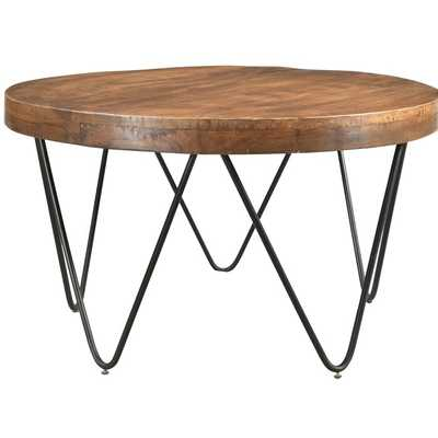Hankins Round Cocktail Table with Tray Top - Wayfair