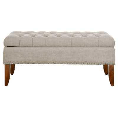 Mortensen Upholstered Flip Top Storage Bench - Wayfair