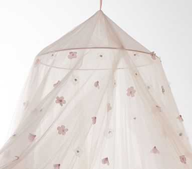 Monique Lhuillier Blush Petal Canopy - Pottery Barn Kids