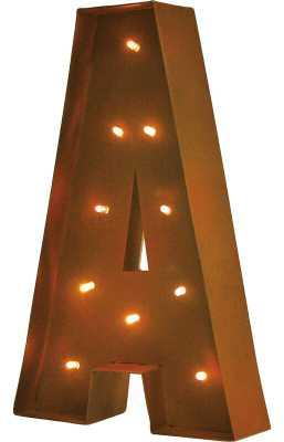 Altum Rustic Vintage Letter LED Marquee Sign - Wayfair