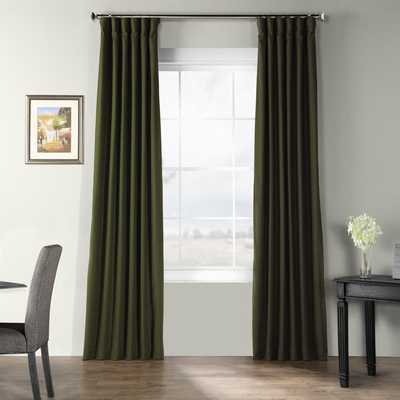 Dario Solid Textured Room Darkening Thermal Rod Pocket Single Curtain Panel - Wayfair