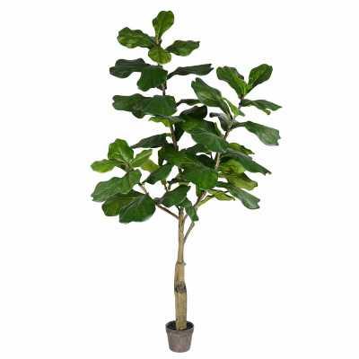 Artificial Fiddle Foliage Tree in Pot - Wayfair