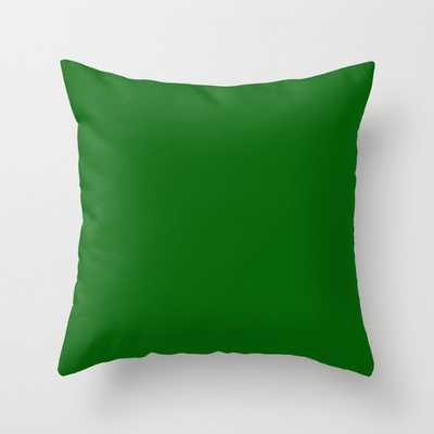 Emerald Green - solid color Throw Pillow - Society6