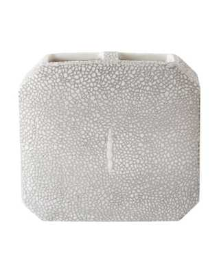 FAUX SHAGREEN BATH TOOTHBRUSH HOLDER, GRAY - McGee & Co.
