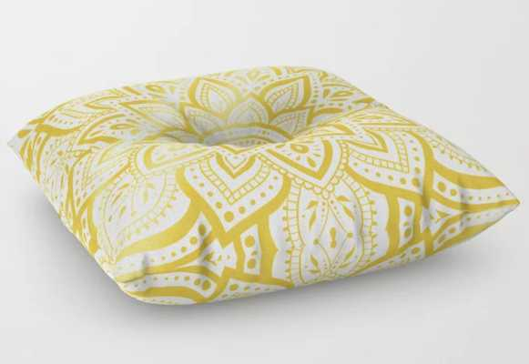 """Pure Gold Floor Pillow - 26"""" - Society6"""