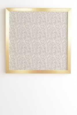 "Holli Zollinger POPPY GREY Gold Framed Wall Art - 20"" x 20"" - Wander Print Co."
