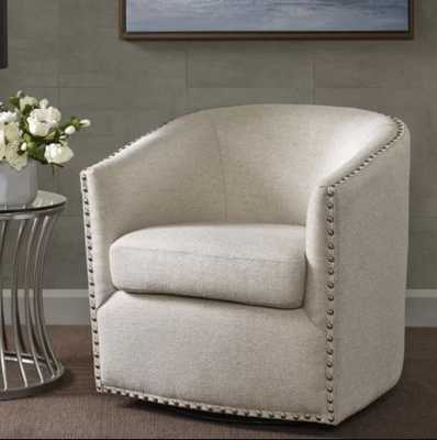 Leominster Swivel Barrel Chair - Birch Lane