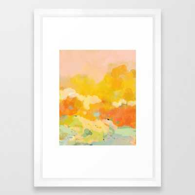 abstract spring sun Framed Art Print 15x21'' - Society6
