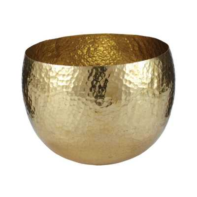 GOLD HAMMERED BRASS BOWL - SM - Rosen Studio