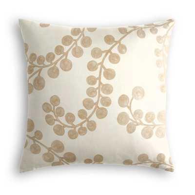 "Lumbar Pillow  Goldilocks - Gilt w/polyfiber insert, no trim, 22""x22"" - Loom Decor"