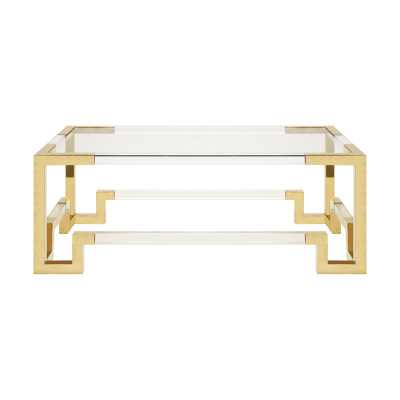 Worlds Away Coffee Table - Brass - Perigold