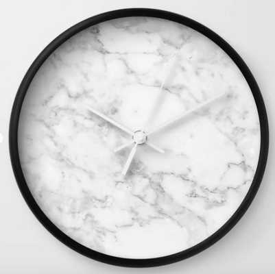 White Marble Edition 2 Wall Clock - Society6