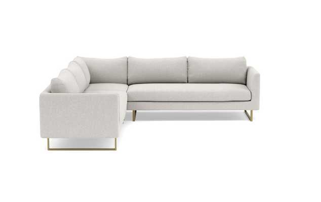 OWENS Corner Sectional Sofa//Matte Brass Square Outline//kid and pet friendly - Interior Define