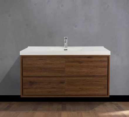"Wittig 47"" Wall-Mounted Single Bathroom Vanity Set - Wayfair"