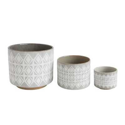 Marilou 3-Piece Stone Pot Planter Set - Wayfair