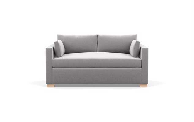 Charly Sofa in Ash Fabric with Natural Oak Block Leg - Interior Define