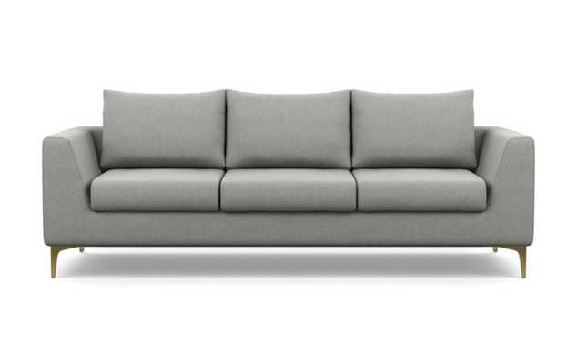 """Asher Sofa with Ecru Fabric and Plated legs- 114"""" - Interior Define"""