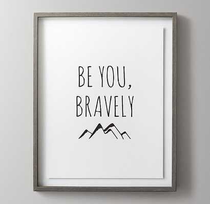 BLACK-AND-WHITE ILLUSTRATED QUOTE ART - BRAVE - RH