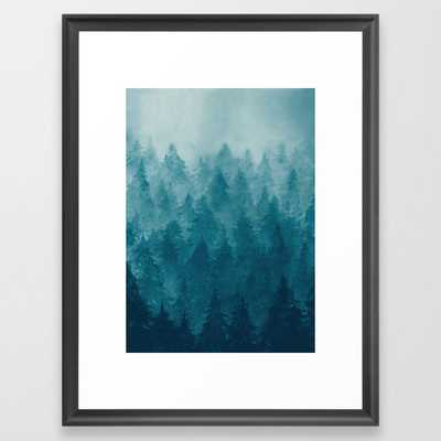 Misty Pine Forest Framed Art Print - Society6