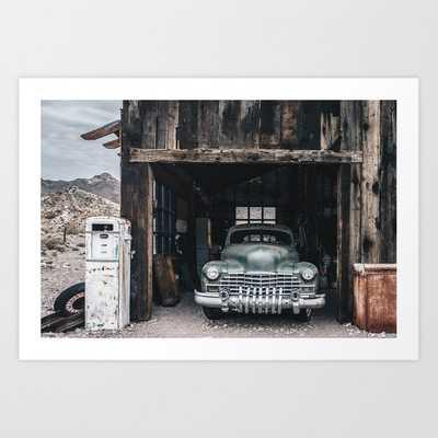 Old vintage car truck abandoned in the desert Art Print - Society6