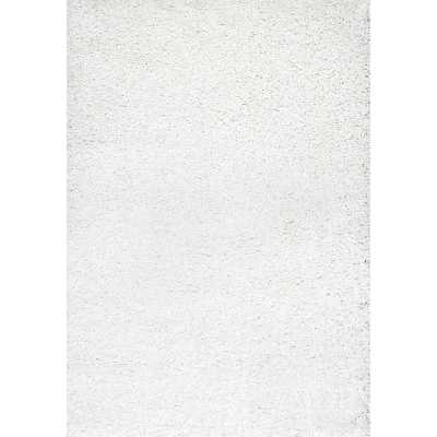 Willa Arlo Interiors Welford White Shag Area Rug - 10x14 - Wayfair