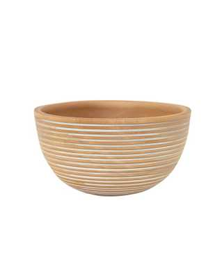 WOODEN STRIPED BOWL - McGee & Co.