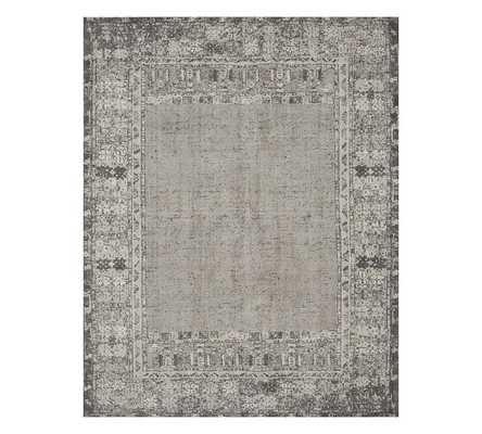 Kailee Printed Rug, 5 x 8 - Gray - Pottery Barn