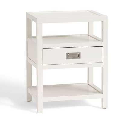 Lonny Nightstand, High Gloss White - Pottery Barn