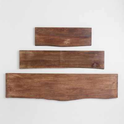 Organic Edge Wood Mix & Match Shelves: Brown - 2Ft by World Market 2Ft - World Market/Cost Plus