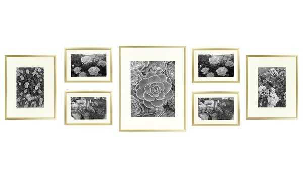 7 Piece Alisson Gallery Wall Aluminum Picture Frame Set - Wayfair