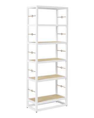 Cabot Bookshelf - White - Serena and Lily