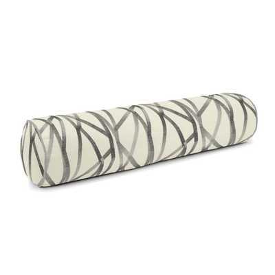 Bolster Pillow 9x36, Tessellate - Charcoal - Loom Decor