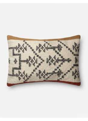 Solara Lumbar Pillow, Camel and Rust, ED Ellen DeGeneres Crafted by Loloi - Lulu and Georgia