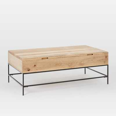 "Industrial Storage Coffee Table, 50""x26"", Raw Mango - West Elm"
