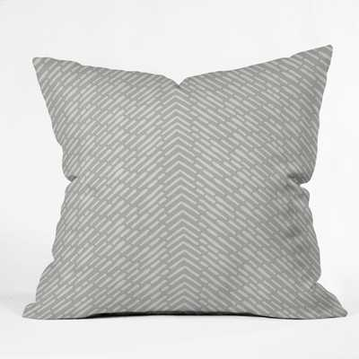 ROUX GRAY Throw Pillow with Insert-  20x20 - Wander Print Co.