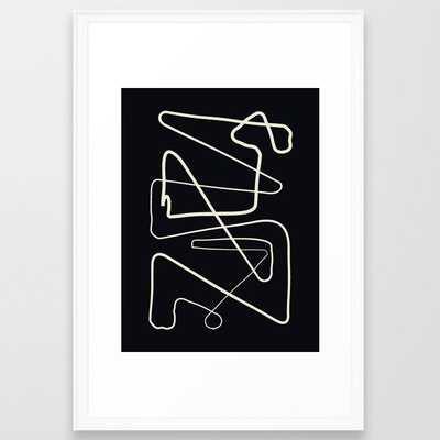 Movements Black Framed Art Print - Society6