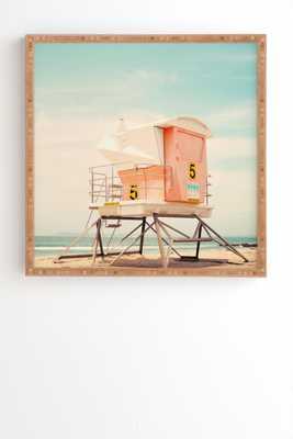 Bree Madden Beach Tower 5 - Bamboo Framed Wall Art - Wander Print Co.