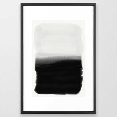 Ink Dipped Framed Art Print, Vector Black, Gallery - Society6