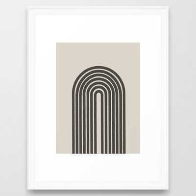 Rainbow Art, Geometric Mid Century - Scoop White - 20x26 - Society6