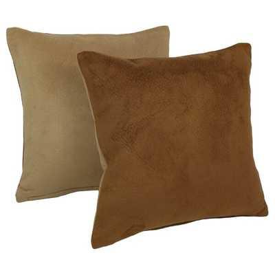 Saito Faux Leather Throw Pillow - Wayfair