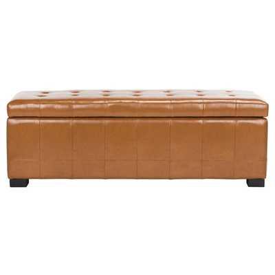 Sinope Leather Storage Bench - Wayfair