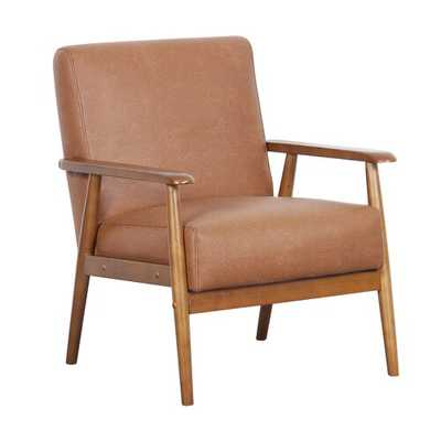 Barlow Armchair- cognac poly - Wayfair