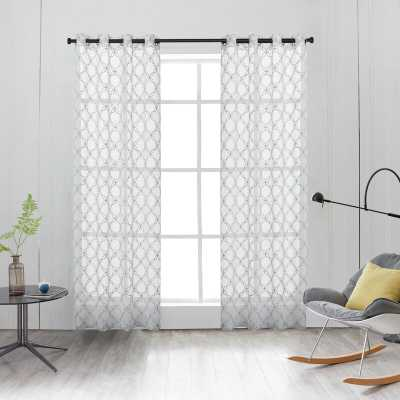 Harshbarger Geometric Sheer Grommet Single Curtain Panel - Wayfair