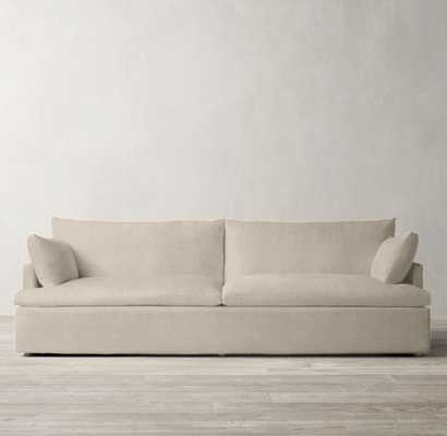 CLOUD TRACK ARM TWO-SEAT-CUSHION SOFA- Perennials Performance Textured Linen weave - SAND - 7' Long - RH