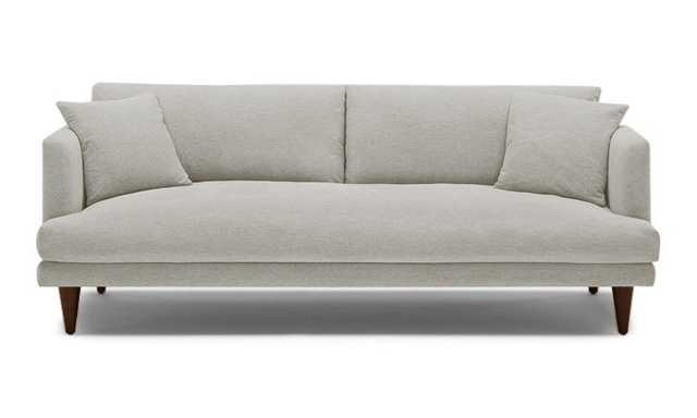 Beige Lewis Mid Century Modern Sofa - Prime Stone - Cone Legs - Joybird
