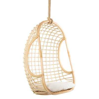 Gaige Grid Rattan Swing Chair - Wayfair