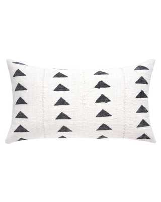 TRIANGLE MUD CLOTH LUMBAR PILLOW IN WHITE w/ insert - PillowPia